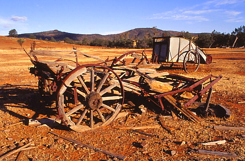 Pioneer farming relics litter the Flinders Range.